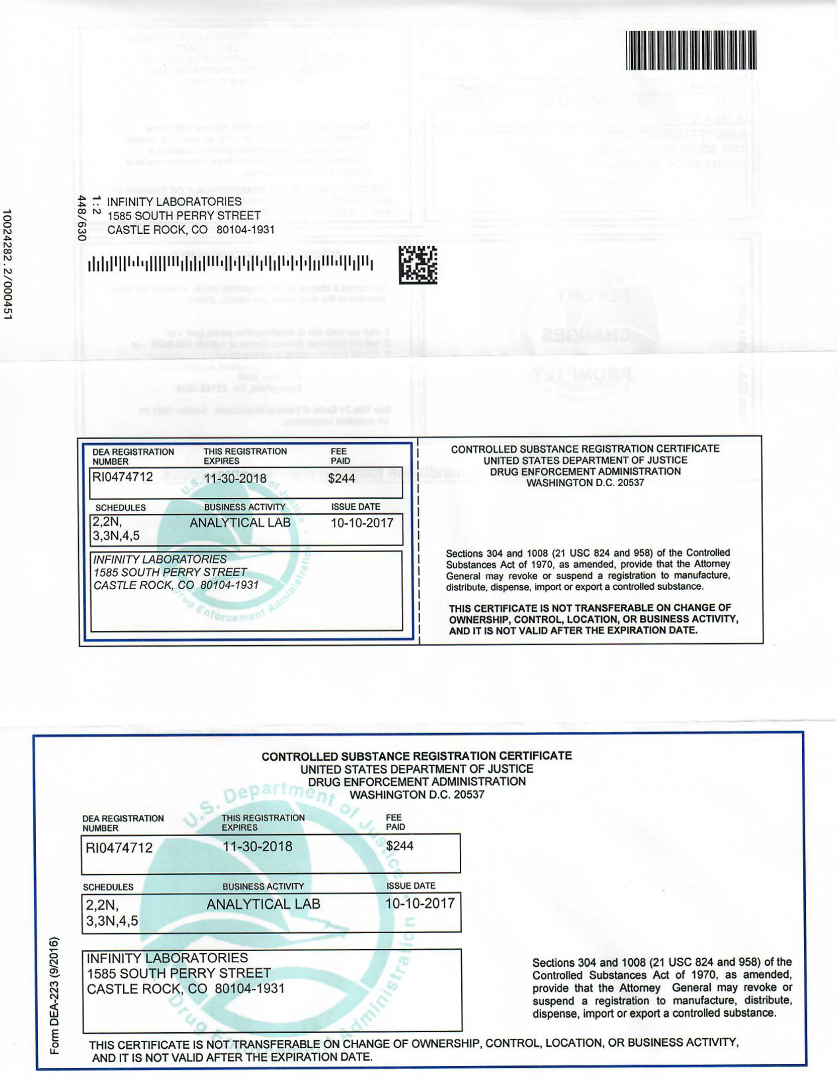 DEA License